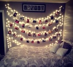 Hang your best memories right on your wall ! Just clip your pictures with any kind of clips on a string of lights!