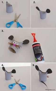 Buon anno a tutti voi!!   Iniziamo il 2015 con un lavoretto di riciclo dei rotoli di carta igienica, creando dei simpatici topolini... Toilet Roll Craft, Toilet Paper Roll, Paper Plate Crafts, Book Crafts, Diy For Kids, Crafts For Kids, Mouse Paint, Paper Mache Animals, Recycling