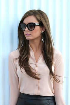 Blush on Leather w/ Valentinos on For All Things Lovely - www.forallthingslovely.com