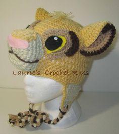 Handmand Crochet Simba Inspired hat...Lion by Lauriescrochetrus, $20.00