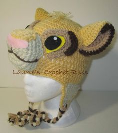 Handmand Crochet Simba Inspired hat...Lion by Lauriescrochetrus, $20.00