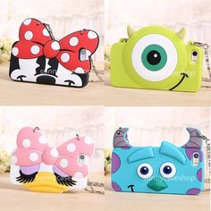 Cute Sulley Mike Minnie hangBag Soft Silicone Fitted Case cover for iphone6 5S #Romrichcaseshop