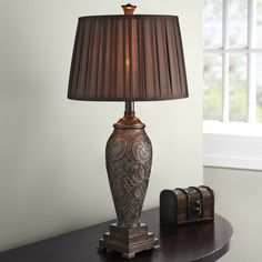 Retro Bed Room Table Lamp Luxurious Fabric Lampshade Living Room Decoration Abajur Table lamp For Bedroom Lamparas De Mesa #Affiliate