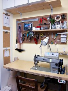 An organized #sewing station | Places and Spaces: Tour Workroom Social