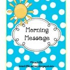 FREE Five morning messages with answers are included in this packet.These work great for emergency sub plans or those days when you get pulled from cl...