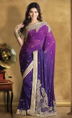 Shades of Purple Saree: GSR2418