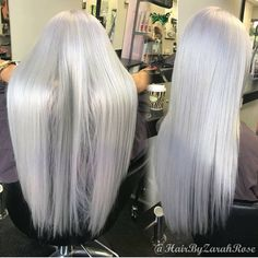 """1,991 Me gusta, 21 comentarios - Fanola Professional USA (@fanola_usa) en Instagram: """"What's your favorite winter hair color? ❄️ Beautiful silver look by @hairbyzarahrose .…"""""""