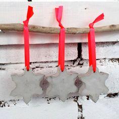 'Three Concrete Snowflakes' Christmas Decoration