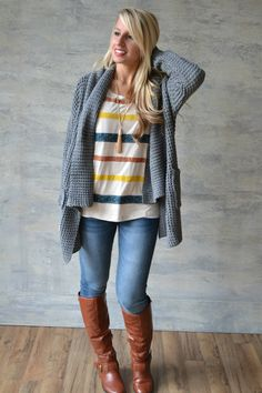 Piace Boutique - Your Favorite Cardi - Grey, $58.99 (http://www.piaceboutique.com/your-favorite-cardi-grey/)