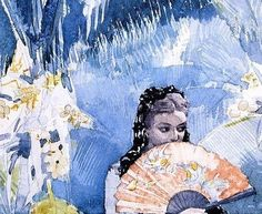 Winslow Homer (1836-1910) Detail Spanish Girl with Fan