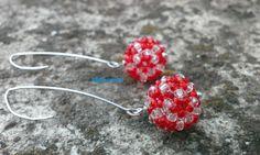 Orecchini pendenti rossi, regalo di Natale, regalo per lei, gioielli per lei…