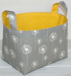Fabric Basket Organizer Storage Bin - Dandelion