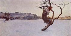Le Cattive Madri' (modified) 1894 by Giovanni Segantini    Segantini ,Giovanni [Italian Art Nouveau/ Symbolist Painter, 1858-1899]