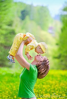 Mother With Baby In The Park - Download From Over 39 Million High Quality Stock Photos, Images, Vectors. Sign up for FREE today. Image: 14544659
