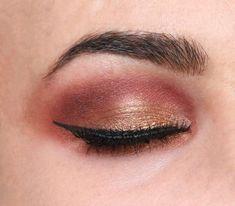 Bronze Eyeshadow look with Makeup Revolution Soph X Palette - The Glamform Makeup Tips Eyeshadow, Eyeshadow For Blue Eyes, Bronze Eyeshadow, Makeup Tutorial Eyeliner, Bronze Makeup, Makeup Guide, Eyeshadow Looks, Beautiful Eye Makeup, Natural Eye Makeup