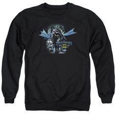 Batman From The Depths Adult Crewneck Sweatshirt