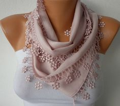 Somon Scarf    Pashmina Scarf   Headband Necklace Cowl by fatwoman, $13.50