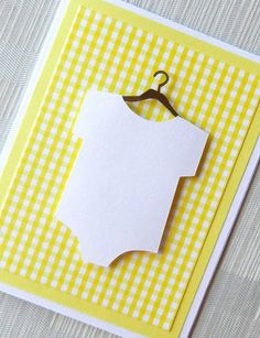 Baby Card for Baby Shower  New Baby Card  Yellow by keylimecards