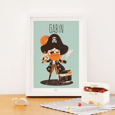 Affiche A4 Les Pirates le capitaine (personnalisable)