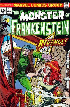 Mike Ploog Monster of Frankenstein 3 cover, 1972