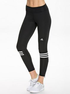 Rs L Tights W - Adidas Sport Performance - Black White - Tights -  Sportkläder 780f7192784