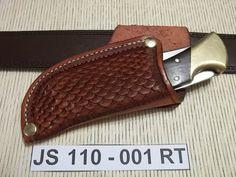 Artículos similares a Cuchillo de cuero vaina JS110-001RT en Etsy