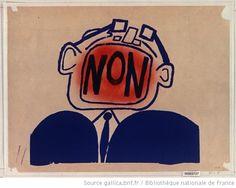 [Mai 1968]. Non (tête en forme de télévision), Faculté des sciences