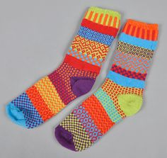 """SOLMATE SOCKS: """"Cosmos"""" Recycled Cotton Socks"""