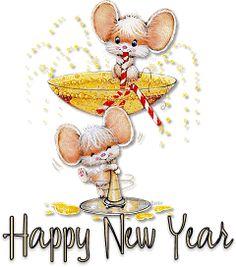 Animated Gif by JoanBlalock Happy New Year Facebook, Happy New Year Gif, New Year Greetings, New Year Card, Study Materials, Animated Gif, Teddy Bear, Animation, Christmas Ornaments