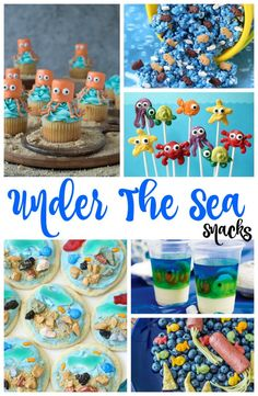 The Best Under the Sea Snacks for Kids, you'll Love these Under the sea Party ideas, So if you are looking for The Best Under the sea snack ideas or Beach theme food ideas you'll find them here. Ocean Themed Snacks and Fun Ocean Party Ideas Beach Theme Snacks, Ocean Snacks, Ocean Themed Food, Sea Party Food, Sea Food, Birthday Party Snacks, Birthday Kids, Birthday Recipes, Pool Party Snacks