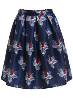 Shop Navy High Waist Floral Flare Skirt online. SheIn offers Navy High Waist Floral Flare Skirt & more to fit your fashionable needs.