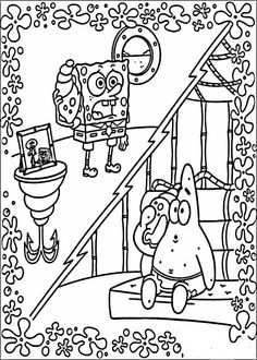 Desenhos para pintar Bob Esponja 3