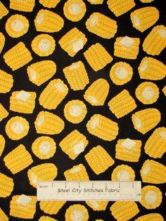 Corn On The Cob Fabric ~ 100% Cotton By Yard ~ Timeless Treasures C2025 Food #TimelessTreasuresFabric
