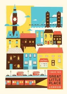 London Illustration by Glenn Thomas