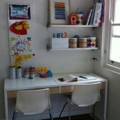 Kids craft (Ikea) desk.