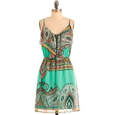 Paisley Your Own Way Dress ❤ liked on Polyvore