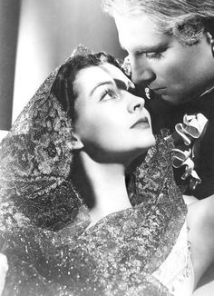 "Vivien Leigh and Laurence Olivier, ""That Hamilton Woman"", 1941."