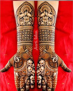To clarify that peacock motifs are traditional design pattern in Indian Wedding Mehndi designs. And Most preferable designs in market. Peacock Mehndi Designs, Latest Bridal Mehndi Designs, Indian Mehndi Designs, Stylish Mehndi Designs, Wedding Mehndi Designs, Mehndi Patterns, Mehandi Designs, Latest Mehndi, Rangoli Designs