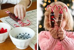 Super easy candy cane reindeer craft i can do with my scholars!
