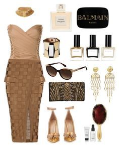 """Balmain"" by ai0807 on Polyvore featuring ファッション, Balmain, women's clothing, women, female, woman, misses と juniors"