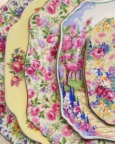 I love floral china.