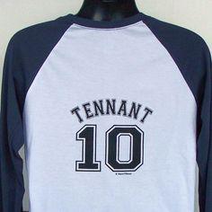 Team Tennant Jersey 10th Doctor AllonsY by DareWearbyNaniWear - back of shirt.