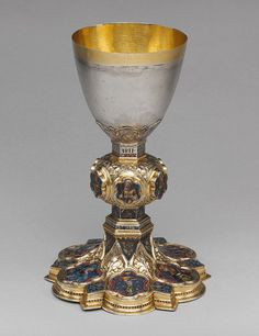 Chalice of Peter of Sassoferrato, c. 1341 - 1342. Italian; from the Franciscan Church of Sassoferrato, Siena