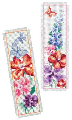 Summer Bouquet Bookmarks Cross Stitch Kit | sewandso