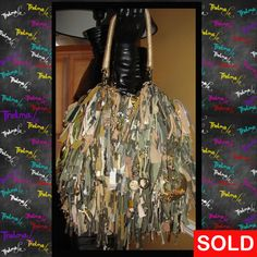 Industrial Army Camouflage Inspired Ultra Fringe by iLoveThelmaLu, $175.00