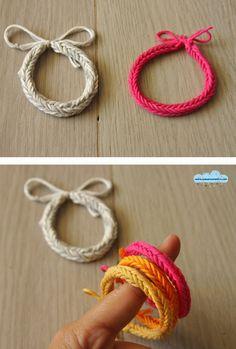 Quandofuoripiove: il braccialetto (di cotone) col telaietto degli elasticini per l'autunno che verrà!