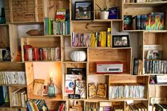 wine box bookshelf - Google Search