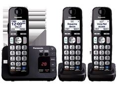 Dect 6.0- 3 Handsets- Big Buttons- Tad Expandable Digital Cordless Answering System With 3 Handset Amplified Handset Volume With Dedicated Volume Key Advanced Tad Functions Enhanced Noise Reduction Key Detector Compatible Power Backup Operation Dect 6.0 Plus Technology Talking Caller Id Large 1.8inch White Backlit Handset Display Intelligent Eco Mode Brand: Panasonic Consumer.