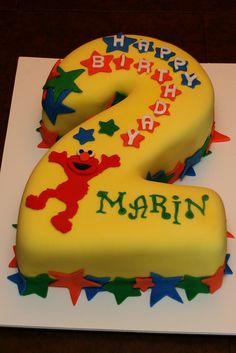 2nd Birthday Elmo Cake by Lucky Penny Cakes, via Flickr
