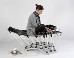 Life on a cloud... Movable seating area by Thomas Hiemann and Markus Dilger
